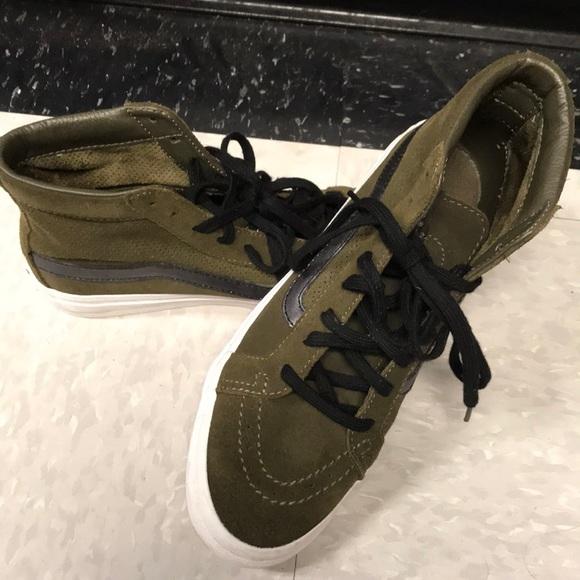 Vans Shoes   Dark Green Vans Old School